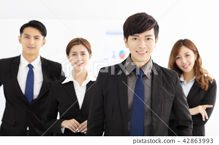 successful young business team in office 42863993