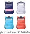 Colorful school backpacks. 42864999