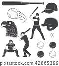 Set of baseball equipment and gear. Vector illustration 42865399