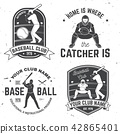 Baseball club badge. Vector illustration. Concept for shirt or logo, print, stamp or tee. 42865401