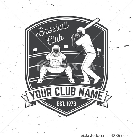 Baseball or softball club badge. Vector illustration. Concept for shirt or logo, print, stamp or tee 42865410