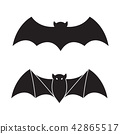Bat vector Halloween icon logo illustration 42865517