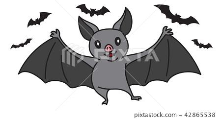 Bat vector Halloween icon Dracula cartoon 42865538