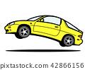 Nostalgia國內跑車跳黃色汽車例證 42866156
