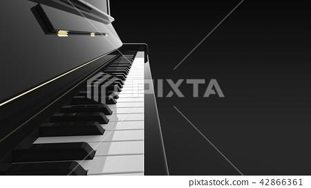立式鋼琴鍵盤靠近右側複製空間 42866361