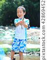 孩子們喜歡釣魚 42869452