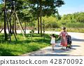 가족, 공원, 산책 42870092