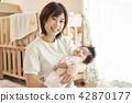 ครอบครัวงีบหลับเด็กครอบครัวเด็ก 42870177