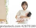 嬰兒午睡家庭家庭的孩子 42870180