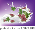 milk, leaf, fig 42871189