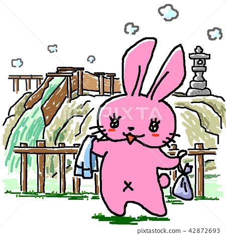 Kusatsu hot spring yubata 42872693