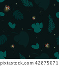 Firefly tropical seamless pattern 42875071