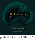 Firefly tropical party invitation 42875073