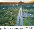 Aerial view on highway 42875201