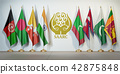SAARC. Flags of memebers South Asian Association 42875848