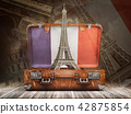 Trip to Paris. Travel or tourism to France concept 42875854