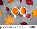 autumn, coffee, leaves 42876085