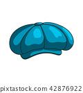 Cap blue icon 42876922