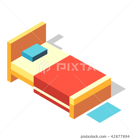 Bed Isometric illustration 42877894