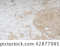 White weathered cement wall background 42877985