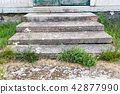 Old weathered stone stairway 42877990