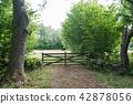 Vintage wooden gate 42878056