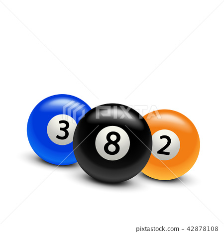 three billiard balls 42878108