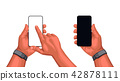 screen, smartphone, hand 42878111