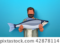 fisher holding big fish 42878114