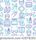 Ophthalmologist seamless pattern 42878283