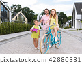 Happy nice family leading active lifestyle 42880881