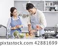 주방,커플,한국인 42881699