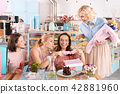 Four successful family women having fun discussing motherhood 42881960