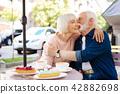 Charming senior couple kissing 42882698