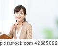 企業圖像女性僱員OL辦公室夫人 42885099
