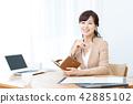 企業圖像女性僱員OL辦公室夫人 42885102