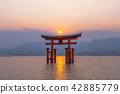 Miyajima of sunset 42885779