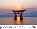 Miyajima of sunset 42885787