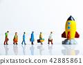 미니어처 사람들과 로켓 42885861