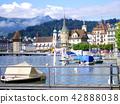 port of Lucerne lake and castle 42888038