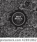 pizza, cuisine, vector 42891862