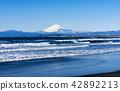 가나가와 현 鵠沼海岸에서 바라 보는 겨울의 후지산 42892213