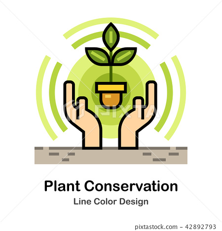 Plant conservation Line Color Icon 42892793