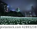 Light Rose Garden In Hong Kong City at night 42893238
