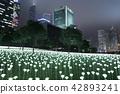 Light Rose Garden In Hong Kong City at night 42893241