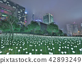 Light Rose Garden In Hong Kong City at night 42893249