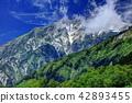 Hakuba mountain range from Tsugaike nature park outlook moor 42893455