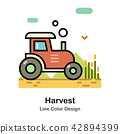 Harvest Line Color Icon 42894399