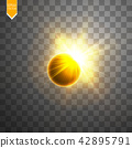 Total solar eclipse vector illustration 42895791