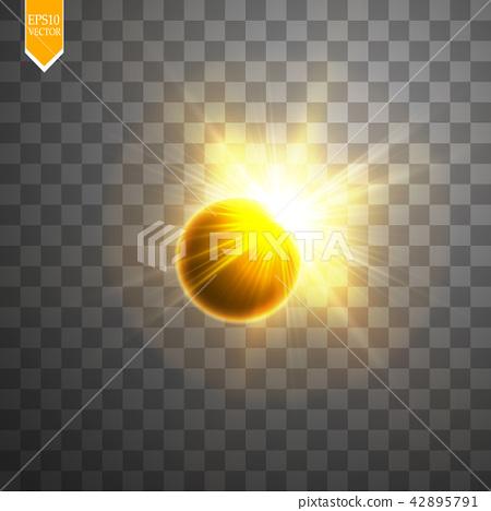 Total solar eclipse vector illustration 42895791